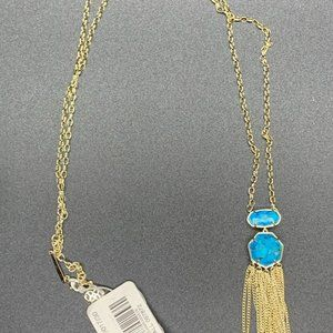 Tae Gold Long necklace IN Bronze Veined Turquoise